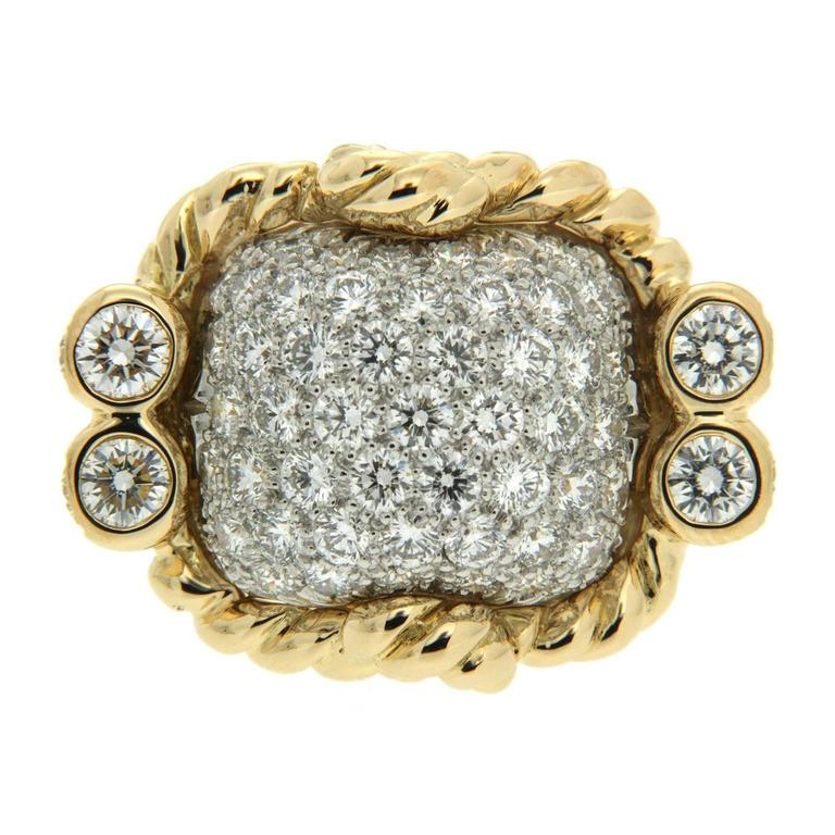 Valentin Magro Yellow Gold Platinum Triple Rope Dome Ring