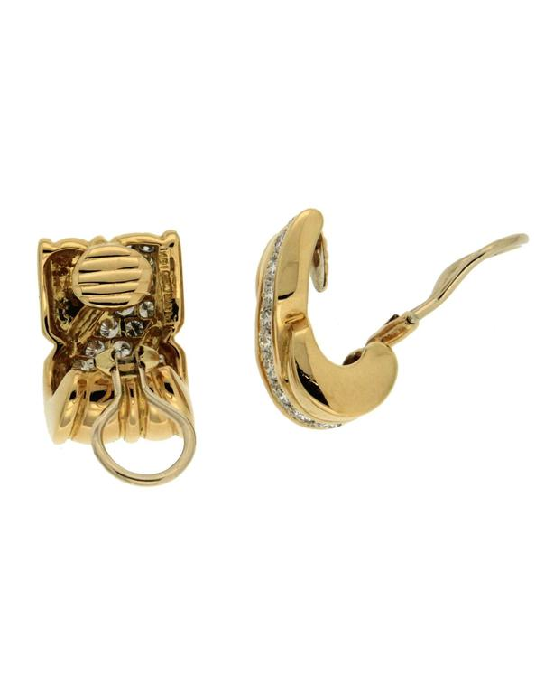 On the Town Diamond Gold Earrings 2