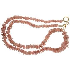 Special Cut Peruvian Opal Necklace