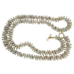 Freshwater Baroque Disk Pearl Necklace