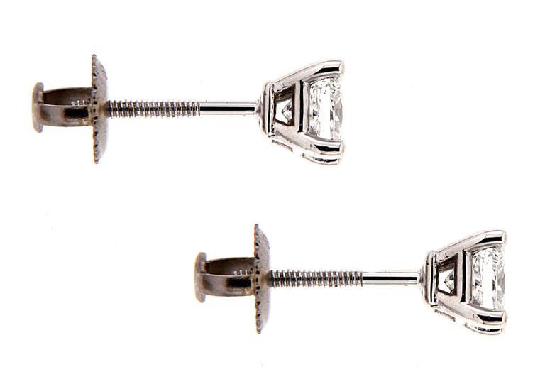 Princess Cut Diamond Stud Earrings (0.34ctw) 2