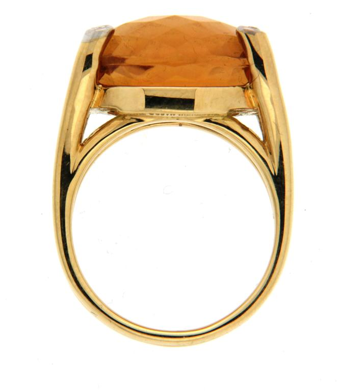 Madeira Citrine Diamond Gold Ring  2