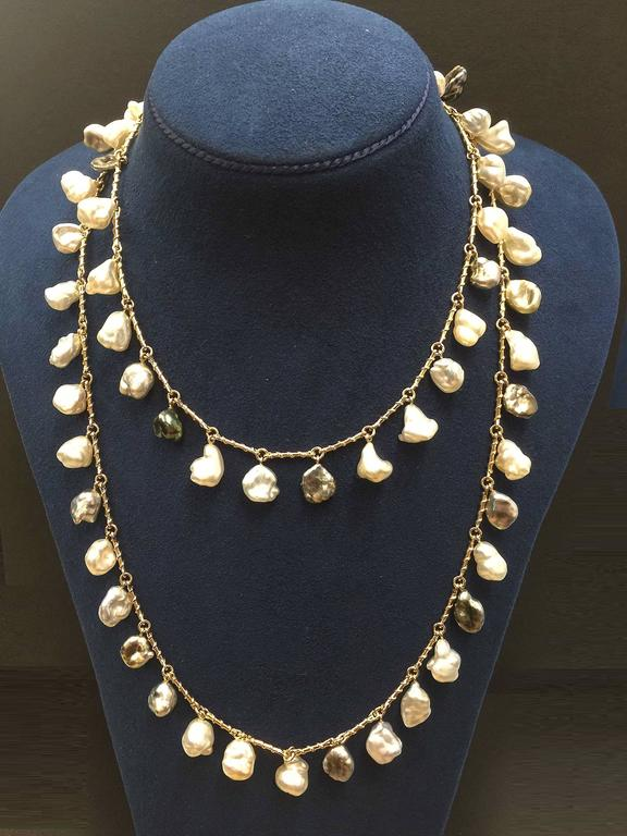 Dangling Keshi Pearl Necklace 2
