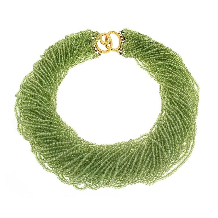 Valentin Magro Multi-Strand Peridot Beads Necklace