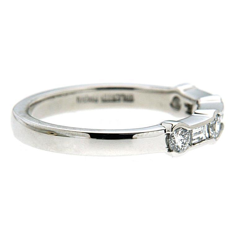 Alternating Channel Set Diamond Ring in Platinum 2