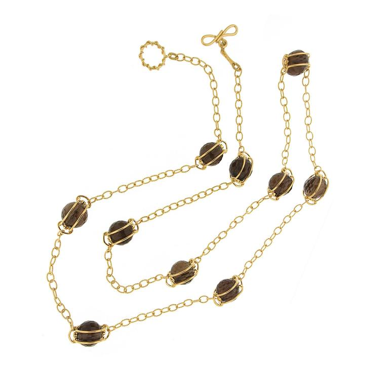Doppio Smokey Topaz Necklace 2
