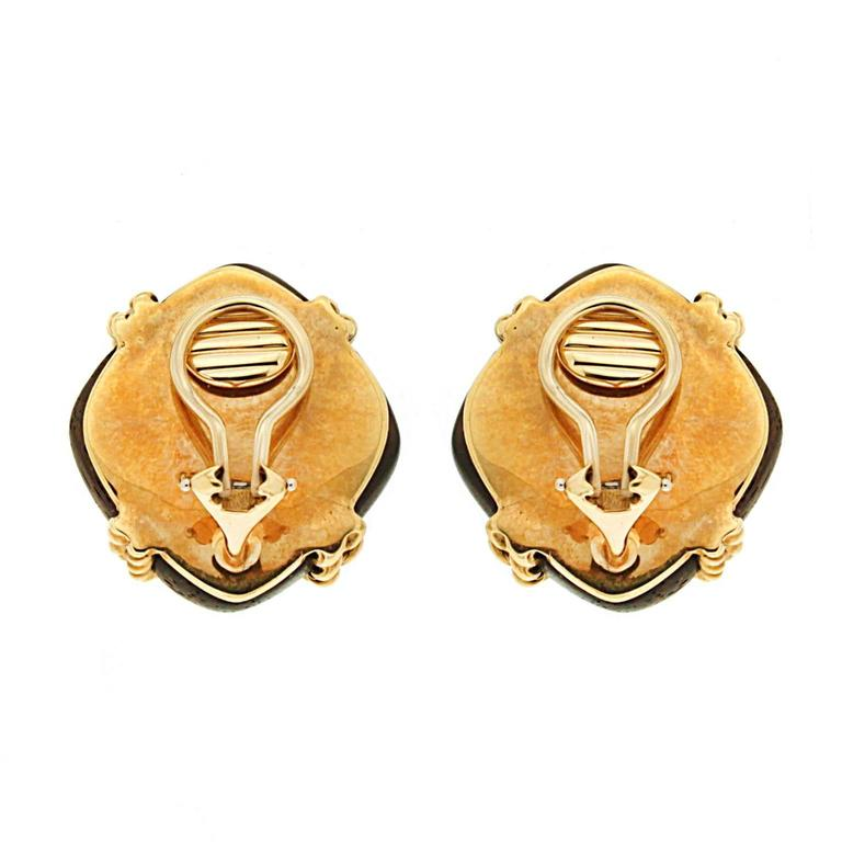 Valentin Magro Criss Cross Twisted Gold Wire Wood Earrings For Sale ...
