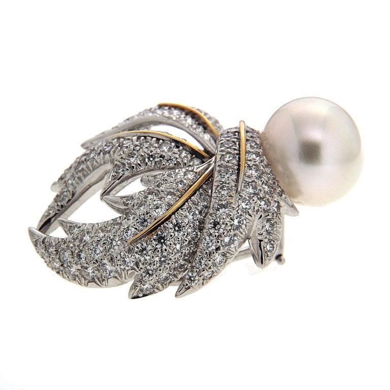Valentin Magro Diamond Pave Multi-Leaf Earrings   4