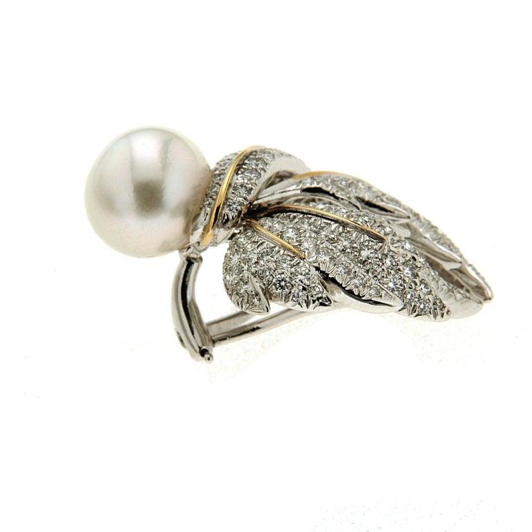 Valentin Magro Diamond Pave Multi-Leaf Earrings   5