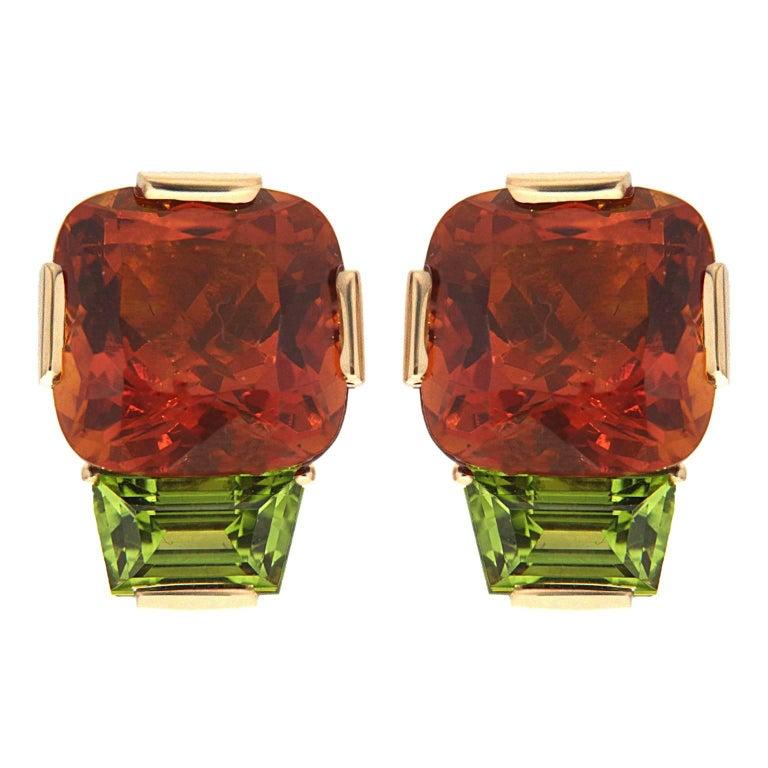 Valentin Magro Citrine Peridot Gold Earrings