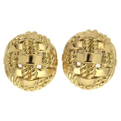 Valentin Magro Gold Rope Overlap Earrings