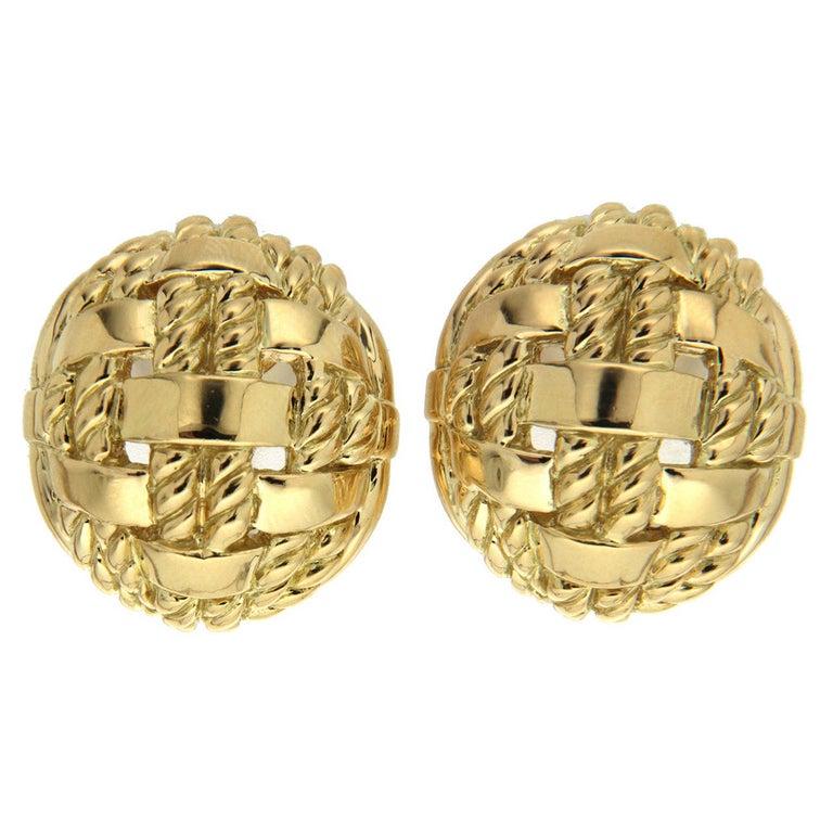 Valentin Magro Gold Rope Overlap Earrings