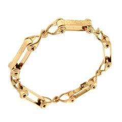Double Textured Bar Gold Bracelet