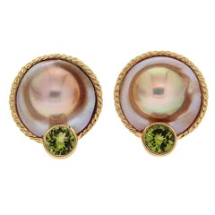 Valentin Magro Mabe Pearl Peridot Gold Earrings