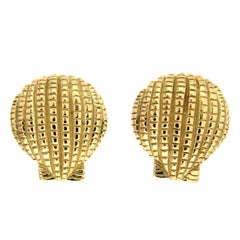 Valentin Magro Scallop Shell Gold Earrings