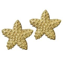Valentin Magro Gold Starfish Earrings