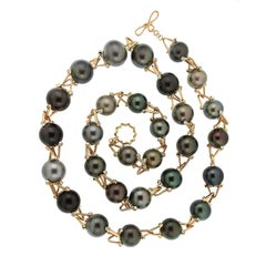 Valentin Magro Multi-Color Tahitian and Golden Pearl Necklace