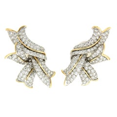 Valentin Magro Mixed Metal Diamond Flames Earrings