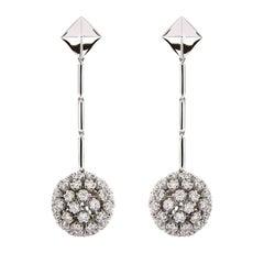 Valentin Magro Diamond Dangling Ball and Pyramid Earrings