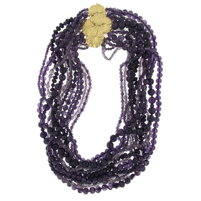 Multiple Strand Amethyst Necklace