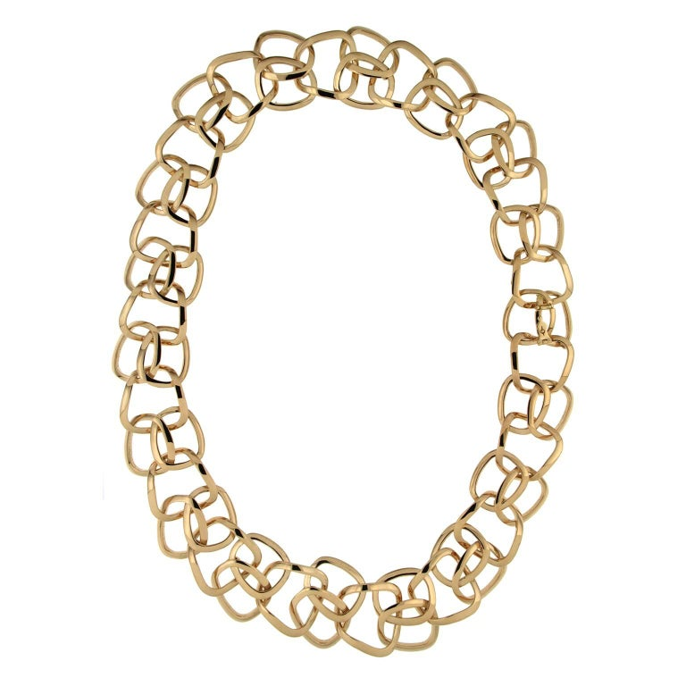 Valentin Magro NY Gold Hampton Cushion Link Necklace