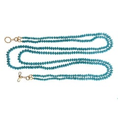 Valentin Magro Two-Strand Turquoise Roundels Necklace