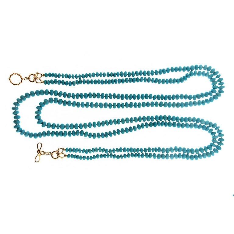 Valentin Magro Two-Strand Turquoise Roundels Necklace