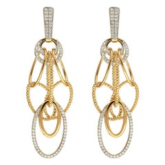 Valentin Magro Oval Cascading Diamond Chandelier Earrings