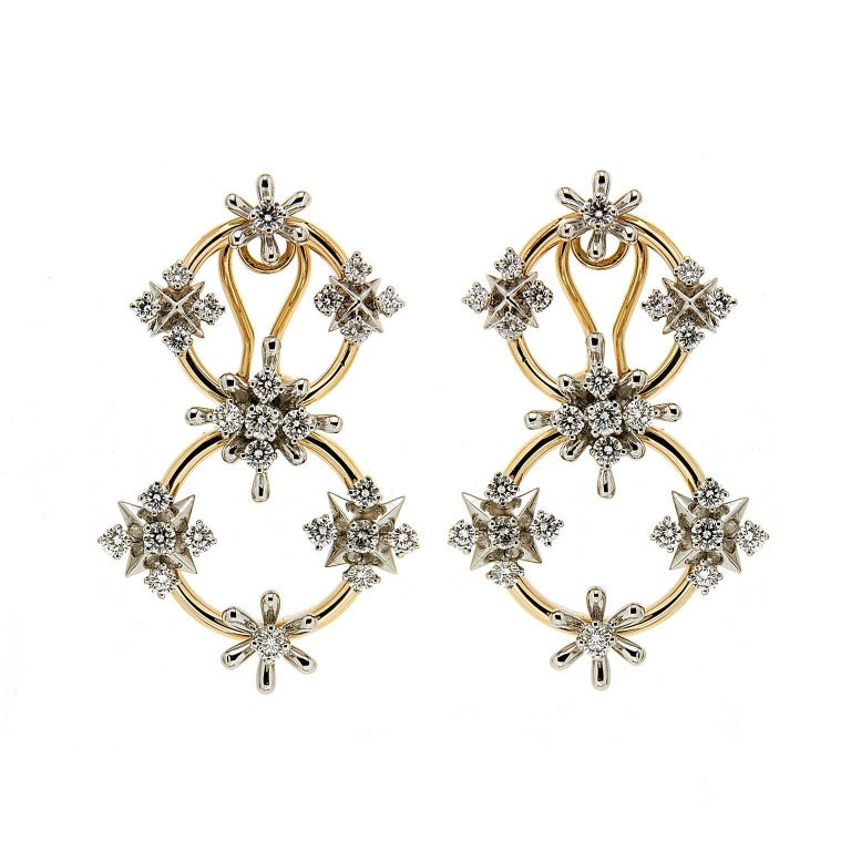 Valentin Magro Circo dei Fiori Diamond Gold Link Earrings