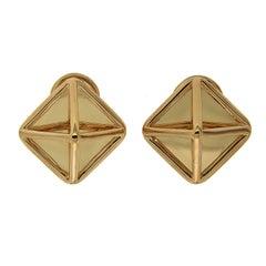 Gold Pyramid Earrings (Medium)