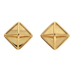 Valentin Magro Pyramid Extra Small Gold Earrings