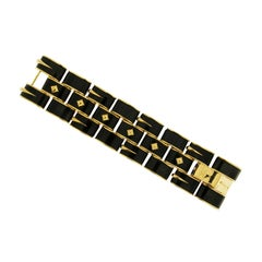 Valentin Magro Black Jade and Gold Bracelet