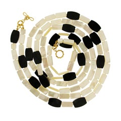Valentin Magro Mother-of-Pearl and Onyx Necklace
