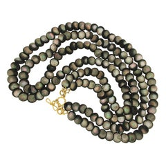 Valentin Magro Black Mother-of-Pearl Strand Necklace