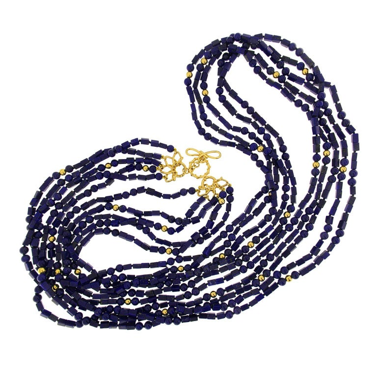 Valentin Magro Multiple Strands Lapis Necklace