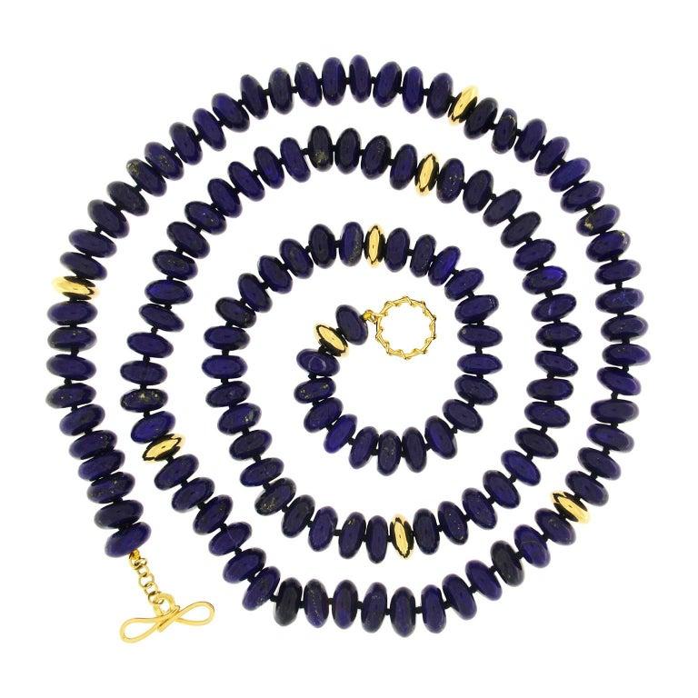 Valentin Magro Lapis Lazuli Roundels Necklace