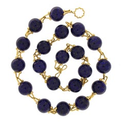 Valentin Magro Round Lapis Necklace with Diamonds