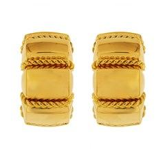 Valentin Magro Retro High Polish Small Gold Shrimp Earrings