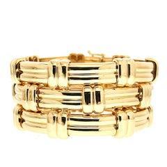Valentin Magro Modern Design Triple Line Gold Bracelet