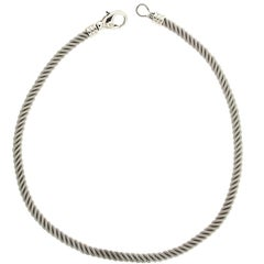 Valentin Magro White Gold Rope Chain Necklace