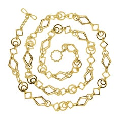 Valentin Magro Geometric Gold Link Necklace