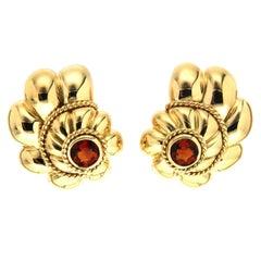 Valentin Magro Citrine Gold Scalloped Shell Earrings