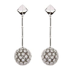 Valentin Magro Diamond Dangling Ball and Pyramid Earrings