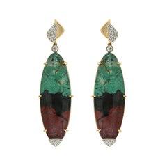 Valentin Magro Senoran Sunset Diamond Gold Dangle Earrings