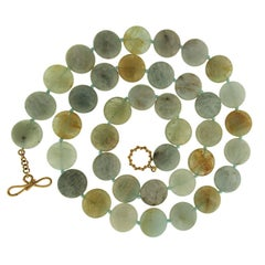 Valentin Magro Green Aquamarine Disk Necklace