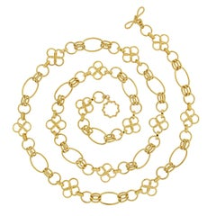Valentin Magro Chain with Clover Motif and Ovals