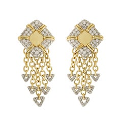 Valentin Magro Nautical Motif, Diamond Pave Gold and Platinum Earrings