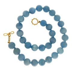 Valentin Magro Aquamarine Balls Necklace