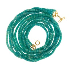 Valentin Magro Four Stand Amazonite Disk Necklace