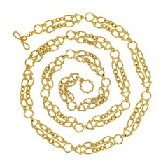 Valentin Magro Double Chain Necklace with Ovals and Triangles